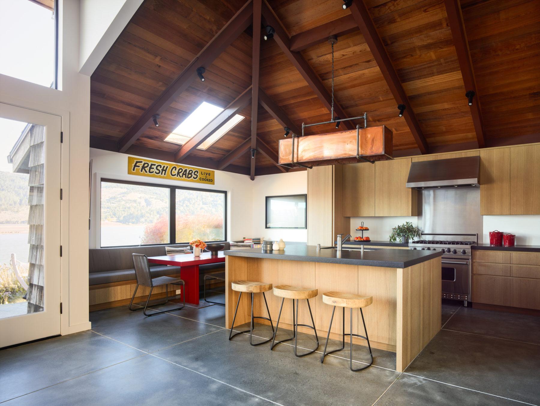 Industrial-modern wooden kitchen area